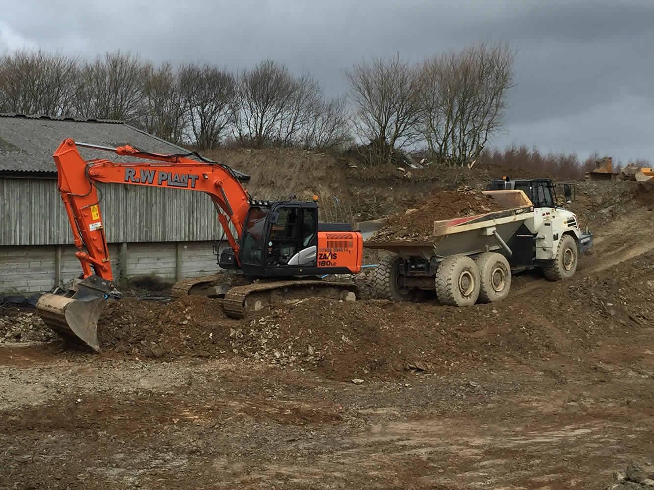 Bulk excavating